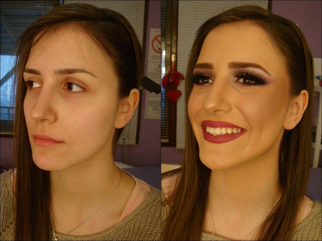 šminka (pre i posle)