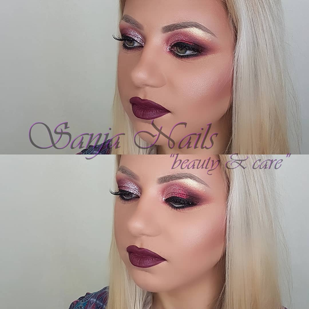 intesive purple make up